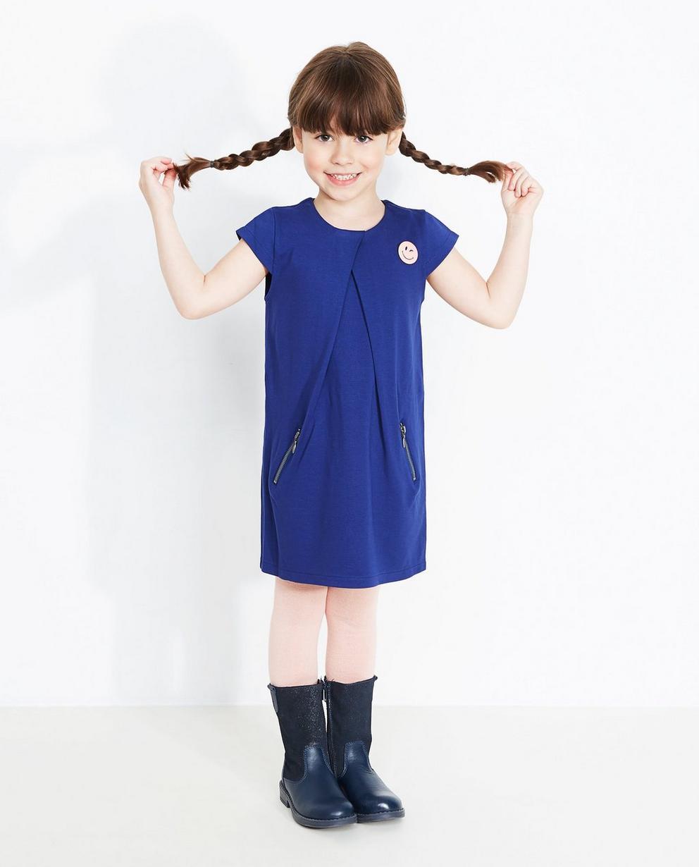 Koningsblauwe jurk - met ritsen - JBC